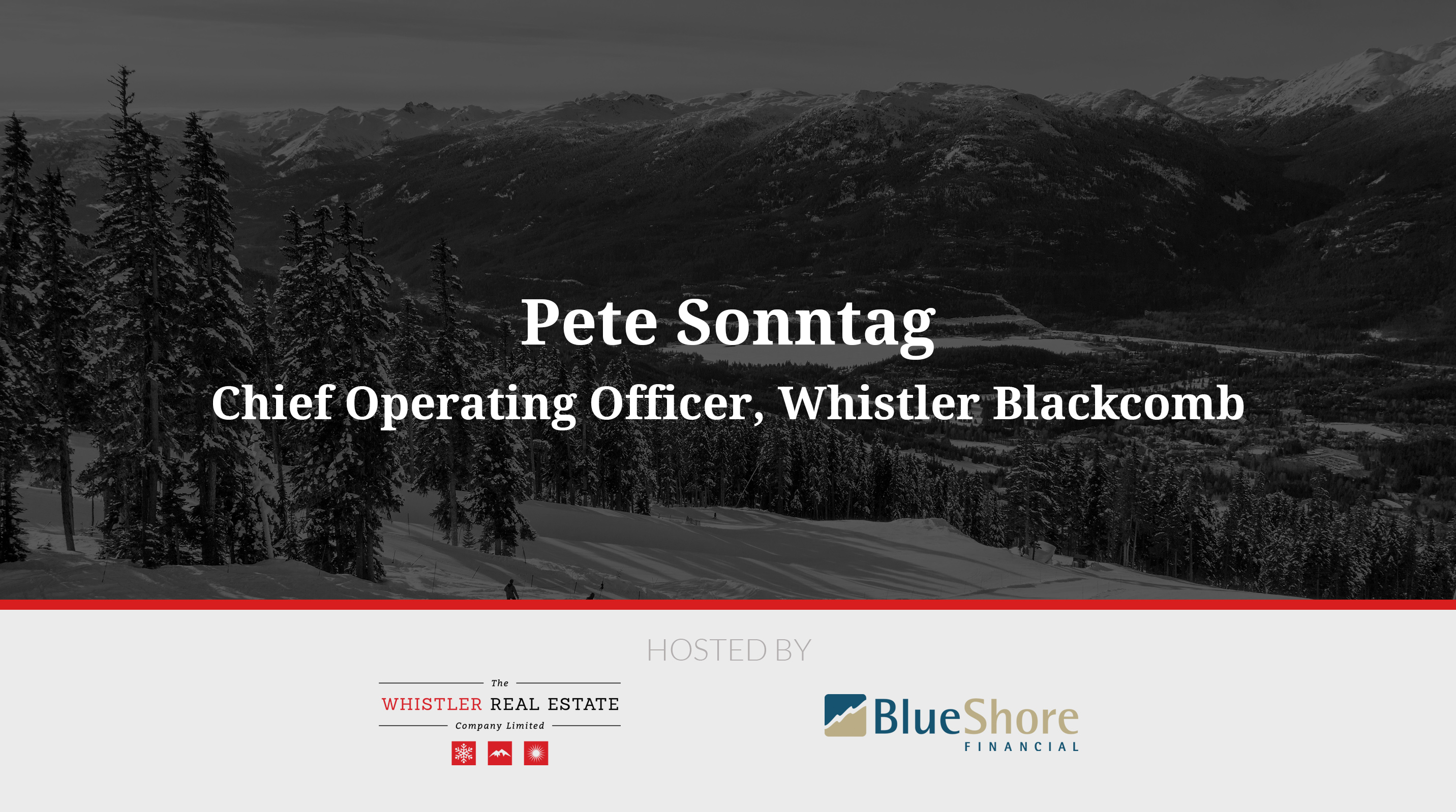 Pete Sonntag, Whistler Blackcomb
