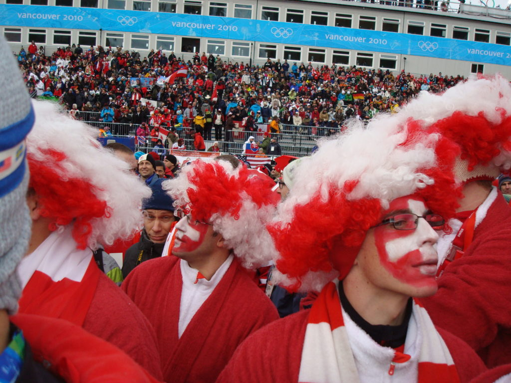 Swiss Fans at Whistler Olympics