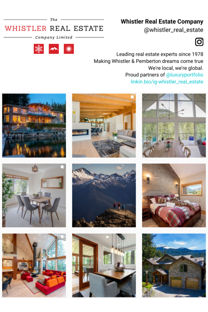 Whistler Real Estate Instagram